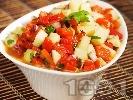 Рецепта Салата от краставици и печени чушки